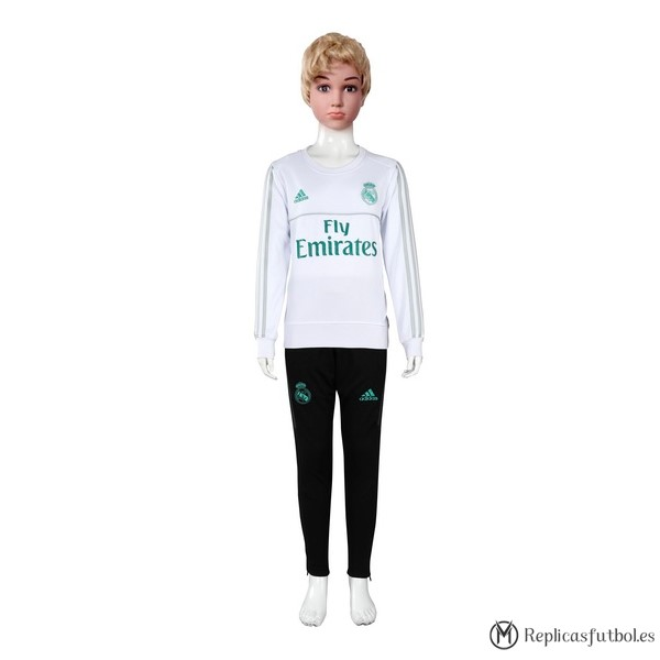 Chandal Real Madrid Niño 2017/2018 Blanco Replicas Futbol